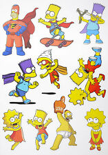 A5 Size Simpons Skateboard Luggage Laptop Bike Phone Vinyl Stickers S0611