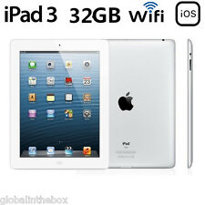 "9.7"" Apple iPad3 3rd Gen 32GB Bluetooth PC Tablet Wi-Fi Only Unlocked White AAA+"