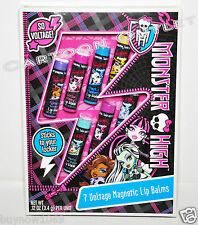 MONSTER HIGH LIP BALM GIFT SET COSMETIC LIP BALMS 7 LIP BALMS CHRISTMAS GIFT NIP