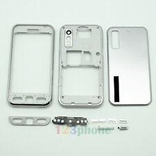 FULL HOUSING KEYPAD + FACEPLATE + COVER FOR SAMSUNG TOCCO S5230 #SILVER