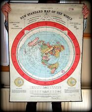 FLAT EARTH - PVC Outdoor (220mic) Poster - Gleason New Standard Map of World USA