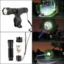 2000LM XML-T6 LED Tactical Flashlight with Picatinny Rail Mount Pressure Switch