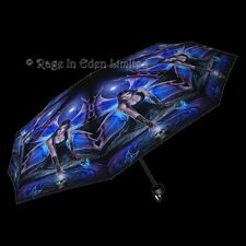 *IMMORTAL FLIGHT* Fantasy Skull Fairy Gothic Art Folding Umbrella By Anne Stokes