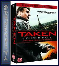 TAKEN 1 & 2 DOUBLE PACK - Liam Neeson  &  Maggie Grace  *BRAND NEW DVD *