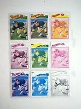 1977 Topps Packers Mike McCoy 9 card color seperation printing proofs blank back