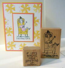 2 Stampin Up Humorous Friendship stamps~use with copic markers