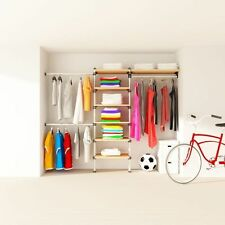 Wardrobe Storage Railing and Shelving Kit for sliding or walking wardrobe VIKI