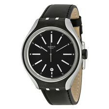 Swatch Go Cycle Black Dial Mens Quartz Watch YES4003