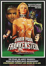 Affiche 120x160cm CHAIR POUR FRANKENSTEIN /FLESH FOR … 1974 Joe Dallesandro NEUV