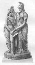 BRITAIN SHOWS AUSTRALIA as NAKED NUDE GIRL WOMAN ~ Old 1866 Art Print Engraving