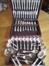 OLD MARK*REED BARTON*FRANCIS I*STERLING SILVER FLATWARE*SET-S-12+SERVERS*RARE***