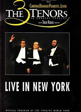 The 3 Tenors Live In New York Official Program 1996/97 World Tour