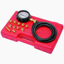 14 piece Engine Oil Pressure Tester Test Gauge Diagnostic Test Tool Set Kit