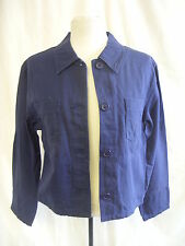Ladies Coat - Talbots PETITES, size S, navy, cotton/rayon, lightweight - 7700