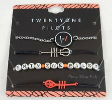 New 21 Twenty One Pilots Band Blurryface Bracelet 4 Pack Arm Party Logo Charms