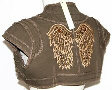 M Embroidered Short Steam Punk Beaded Hippie Boho Bohemian Jacket Shrug Coat Top