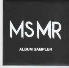 (EL592) MsMr, 5 track album sampler - 2013 DJ CD