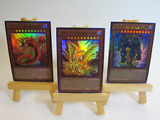 ~PROXY~ Orica Custom Toon Egyptian Gods 3 Card Lot Ultra Rare Slifer Obelisk Ra