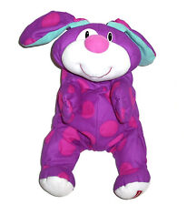 Fisher Price Rumple Puppy Bunny 2000 Pink Purple Polka Dot Stuffed Animal