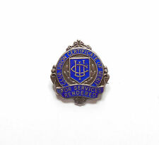 Vintage Birmingham 1969 Silver 925 CLUB UNION CERTIFICATE OF MERIT Pin Badge 6g