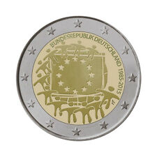 """Germany 2 Euro commemorative coin 2015 """"30 Years of EU Flag"""" - UNC"""