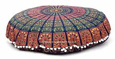 Mandala Indian Handmade Round Floor Cushion Meditation Yoga Pillow Ottoman Pouf