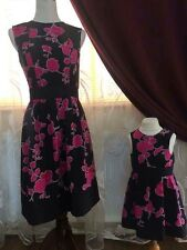 Mother And Daughter Matching Dresses Black & Pink Party Occasion outdoor Sale!!