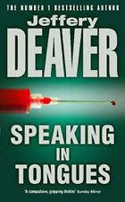 JEFFERY DEAVER____ SPEAKING DANS UN TONGUES____NEUF
