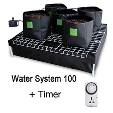 HYDROPONIC SYSTEM 5 19L POT TIMER WATER PUMP FOR GROW TENT GROWING PLANTS