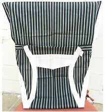 New Portable Baby Chair/High Chair Harness, Blue- white Stripes
