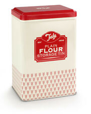 Tala Originals Retro Design Plain Flour Storage Tin Canister Container Baking