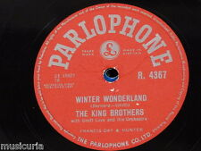 78rpm THE KING BROTHERS winter wonderland / wake up little susie R 4367