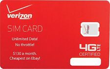 Actually Unlimited Verizon 4G LTE DATA SIM! No Throttle!$130/month