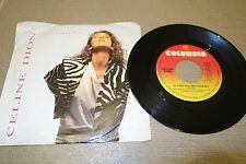 """*RARE* 1990 PS CELINE DION If There Was Any Other Way 7"""" 45rpm CANADA press CBS"""