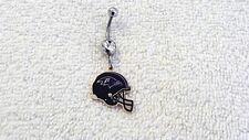 NFL Baltimore Ravens Football Charm Belly Navel Ring Body Jewelry Piercing