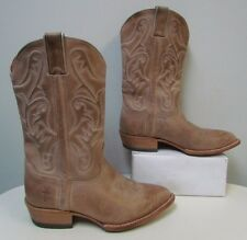 Women's Frye Western Cowboy Light Brown Leather Boots Shoes 8.5 B