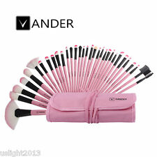 Vander PINK Pro 32PCS Superior Soft Cosmetic Makeup Brush Set Kit + Pouch Bag
