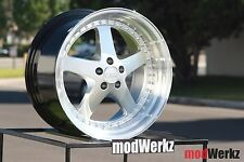 18x9.5 18x10.5 Inch +22 ESR SR04 5x114.3 Silver Wheels Rims Civic G35 350z 370z