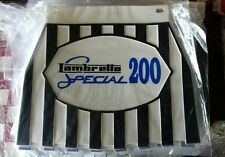 Lambretta Black and White 200 Special Genuine Cuppini Mudflap Rubber Type