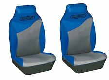 BRANDS HATCH UNIVERSAL FRONT SEAT PROTECTOR COVERS BLUE & BLACK TOUGH WATERPROOF