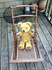 Antique Folding Bergere Steamer or Campaign Chair