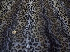 Pesante spazzolato VELOUR-WILD CAT-Nero / Grigio-Abito fabric-free P&P (solo Regno Unito)