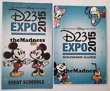 2015 Disney D23 Expo Souvenir Program Guide Book & Event Schedule NO Cards