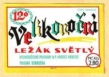 ETICHETTA - Velíkonoční Světlý Ležák 12° -Východočeské pivovary n.p.Hradec N.123