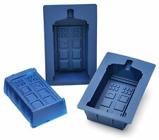 New DOCTOR WHO Licensed Set of 4 TARDIS Silicone Cake, Jello, Chocolate Mold Pan