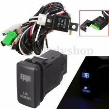 LED Light Bar Wiring Loom Harness 40A Switch Relay Kit For Toyota LANDCRUISER