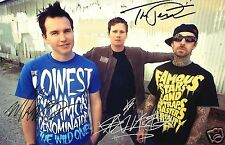 BLINK 182 AUTOGRAPH SIGNED PP PHOTO POSTER