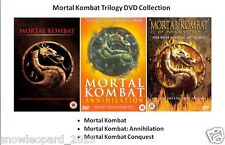 MORTAL KOMBAT TRILOGY DVD PART 1 2 3 Annihilation Conquest New Sealed UK Combat
