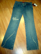 NWT APPLE BOTTOMS STRETCH DISTRESSED DENIM EMBELLISHED BOOTCUT JEANS SIZE 4