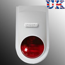WIRELESS WEATHERPROOF EXTERNAL FLASH LED STROBE SIREN FOR AUTODIAL GSM ALARM